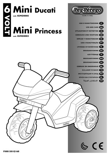 Детский мотоцикл Peg-Perego Raider Mini Princess New — Лучшая мама